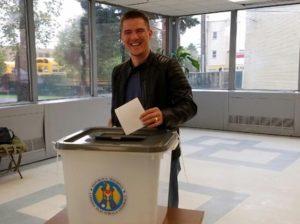 Sergiu Mititel a votat în oraşul Niles, din statul Illinois, SUA