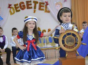 """Daria BOBIC și Marius SCOFERȚA, grădinița """"Scufița roșie"""""""