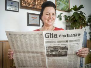 """Printre acei care au fost alături de """"Glia"""" de Ziua libertății presei a fost și Silvia JAMAN, una din cititoarele fidele ale ziarului"""