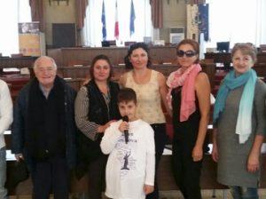 """Membri ai organizației """"Moldovenii din Abruzzo"""". În centru Ina SpineI"""