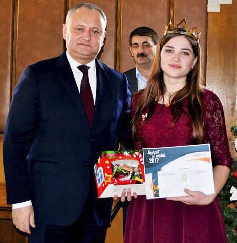 «Королева» Анастасия Адэскэлицей и президент