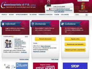 Cetățenii italieni pot sesiza un fals la un click distanță. Sursa: Commissariatodips.it