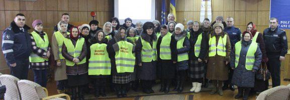 Bunicii grijulii din raionul Drochia după o ședință de lucru la Inspectoratul de poliție Drochia