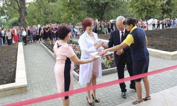 Momentul de inaugurare festivă a Centrului multifuncţional din s. Ţarigrad