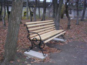 Новые красивые скамейки