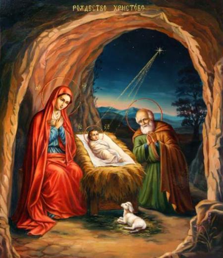 Icoană ce reprezintă Nașterea lui Isus Hristos
