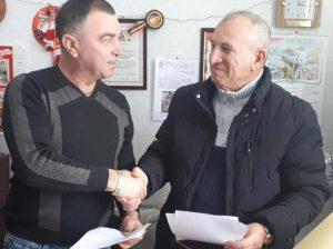 Victor CEMORTAN (la stânga) cu Ștefan DODIȚĂ