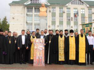 Preoții din Protopopiatul Drochia împreună cu administrația raionului la veberarea lui Ștefan cel Mare și Sfânt