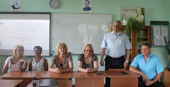 (De la stânga) Loreta GAFTON, Cristina PERAZZO, Valentina ROMANCIUC, Ala STELIMAN, Igor GROZAVU, Iurie MELINTE