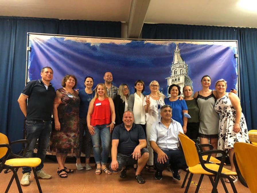 Funcționarii electorali ai BE 38/79, care au asigurat procesul de votare în Modena, Italia